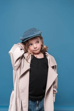 Adorable little girl in cap