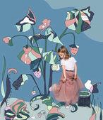 Fotografia Bambina con piante magiche