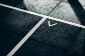 Podlahové značení v tělocvičně