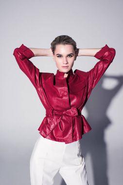 girl posing for fashion shoot