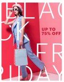 stilvolles Mädchen mit Einkaufstaschen