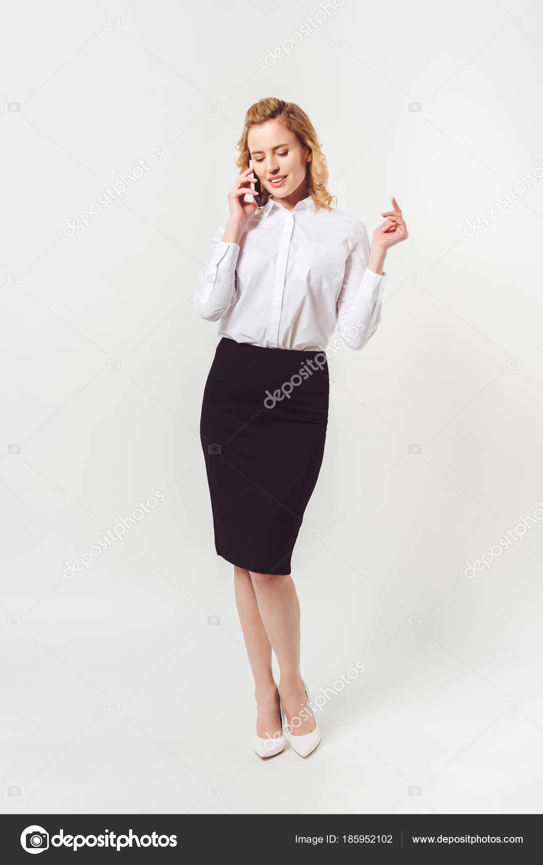 big sale 5720e d5930 Elegante Donna Affari Camicia Bianca Che Comunica Dal ...