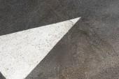 Fotografie Bílé lakované šipku na asfaltové silnici