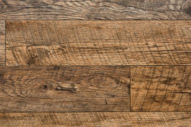Carpentry template with brown wooden planks