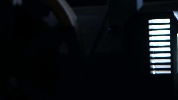 Closeup. Retro filmový projektor
