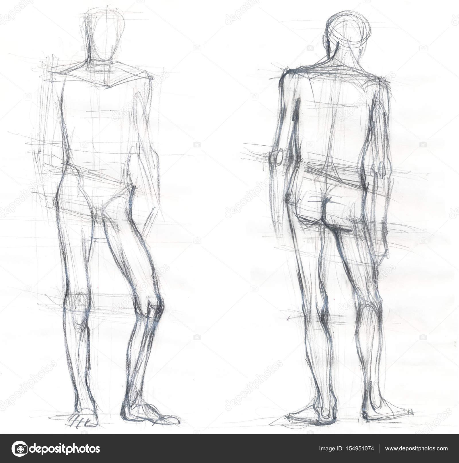 Dibujos Espalda Hombre Dibujo Dibujo De Hombre De Frente Y