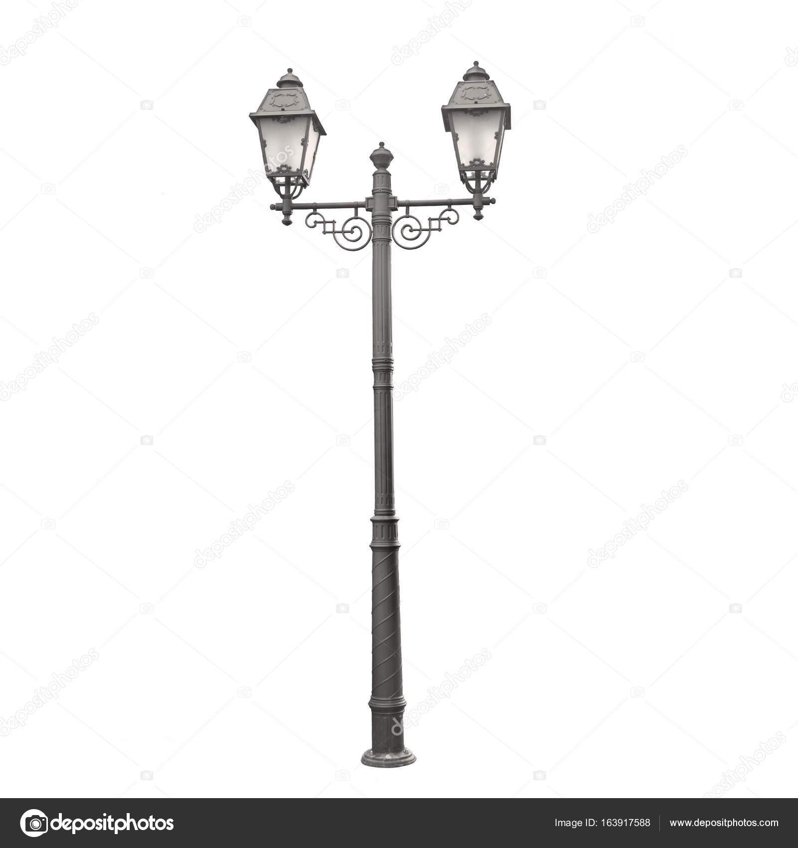 vintage street light isolated on white stock photo blackdorian