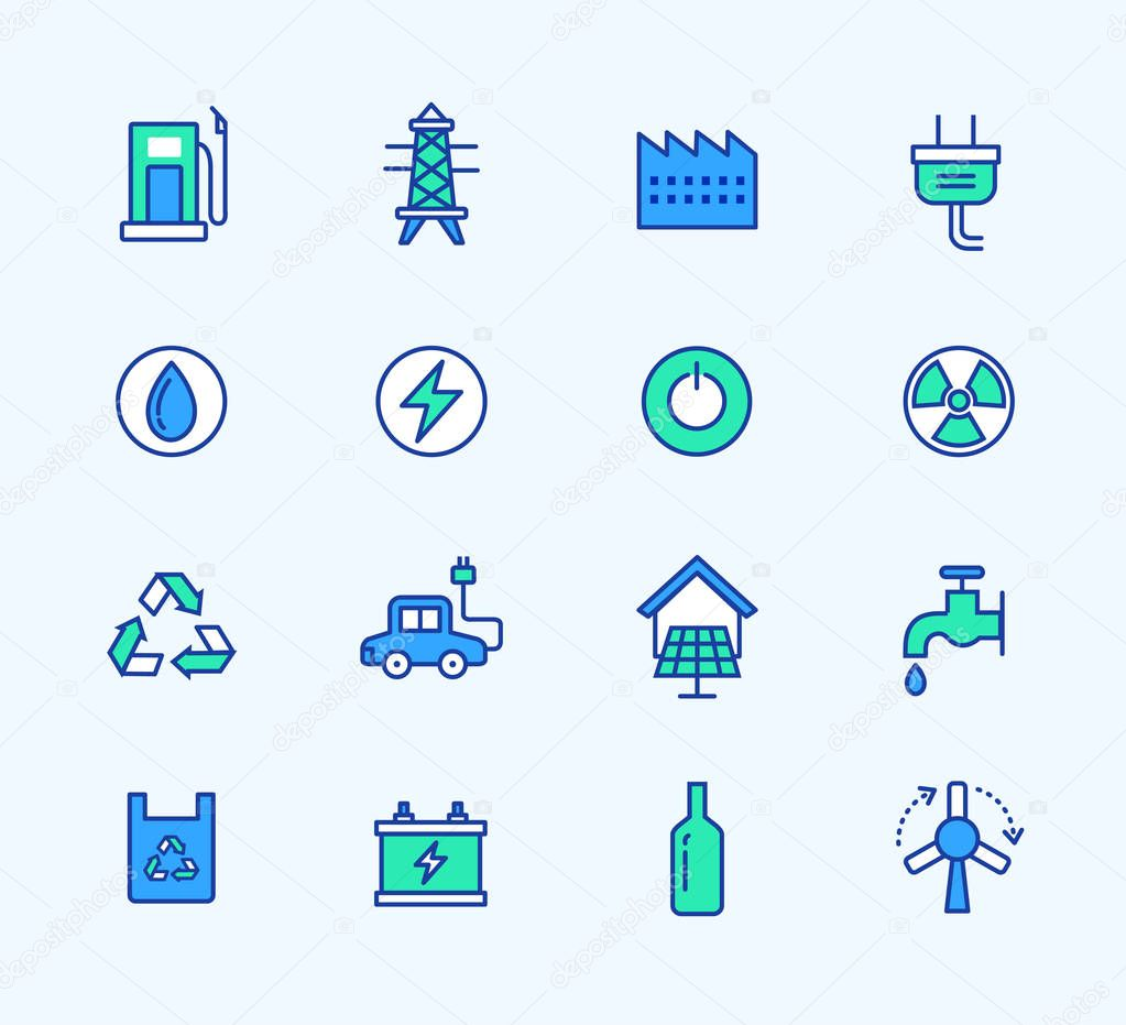 website colors neon : Energy Line Icons Neon Color Web Symbols For Mobile And Web Graphics