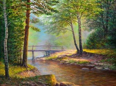 "Картина, постер, плакат, фотообои ""пейзаж копия картина пейзаж арт утро маки"", артикул 137071594"