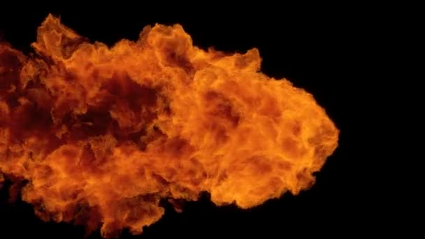 Full screen high speed Fire ball explosion from left to right, slow motion fire