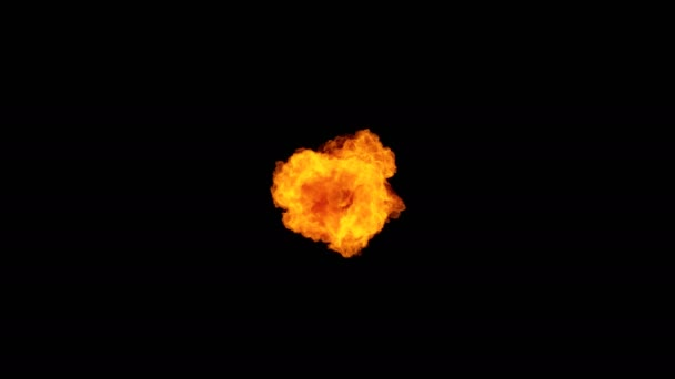High Speed Fire ball explosion towards to camera, cross frame ahead transition