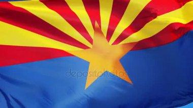 Arizona (USA) zászlók zökkenőmentesen végtelenített alfa lassítva