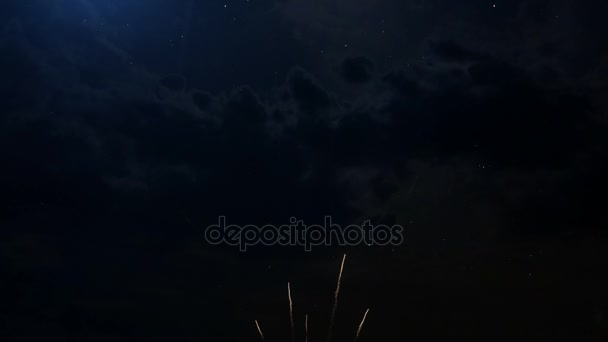 Happy birthday Anniversary 5 years celebration greeting text with fireworks
