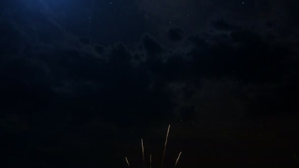 Happy birthday Anniversary 10 years celebration greeting text with fireworks