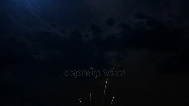 Happy birthday Anniversary 15 years celebration greeting text with fireworks