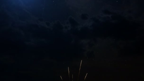 Happy birthday Anniversary 50 years celebration greeting text with fireworks