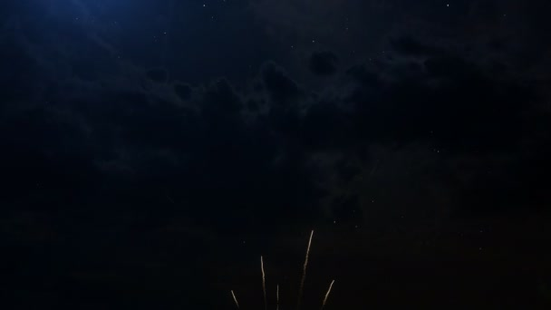 Happy birthday Anniversary 40 years celebration greeting text with fireworks