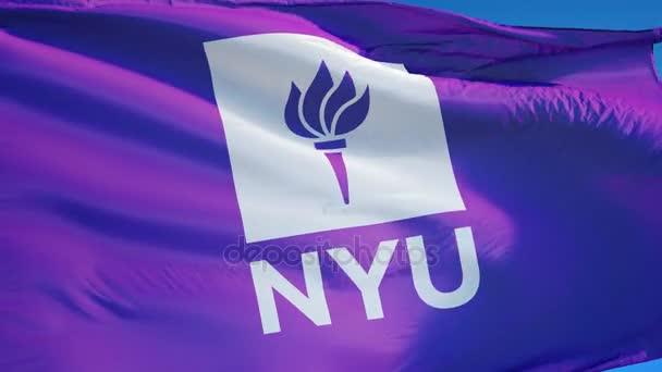 Vlajka na New York University v pomalém pohybu, redakční animace
