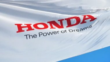Honda Motor Co Ltd Flag In Slow Motion Editorial Animation