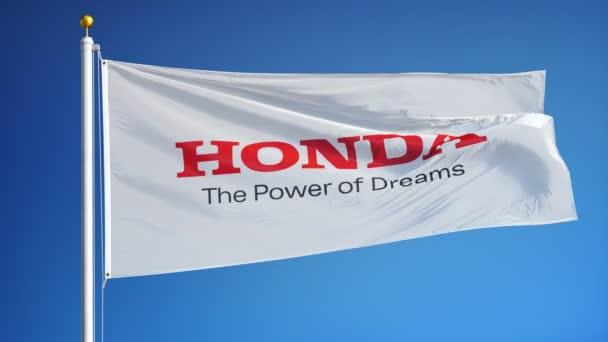 Honda Motor Co Ltd Flag In Slow Motion Editorial Animation Stock