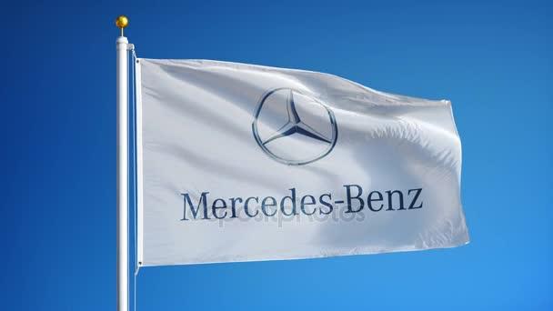 Mercedes-Benz gyártó zászló-ban lassú mozgás, szerkesztői animáció