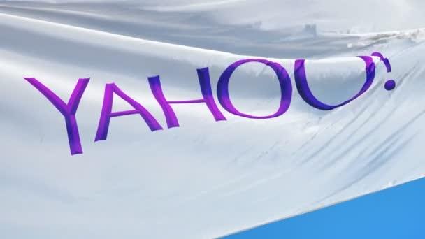 Vlajka společnosti Yahoo! Inc. v pomalém pohybu, redakční animace
