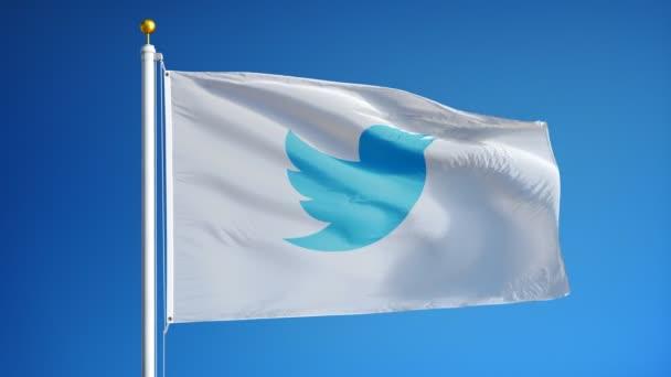 Twitter cég zászló-ban lassú mozgás, szerkesztői animáció