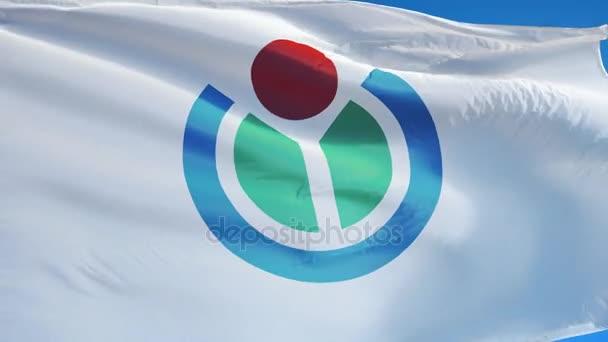Nadace Wikimedia Foundation vlajka v pomalém pohybu, redakční animace