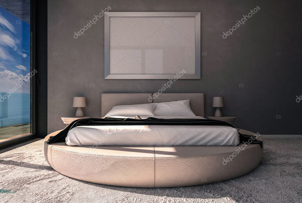 Marco de foto en el dormitorio vacío — Foto de stock © pozitivo ...