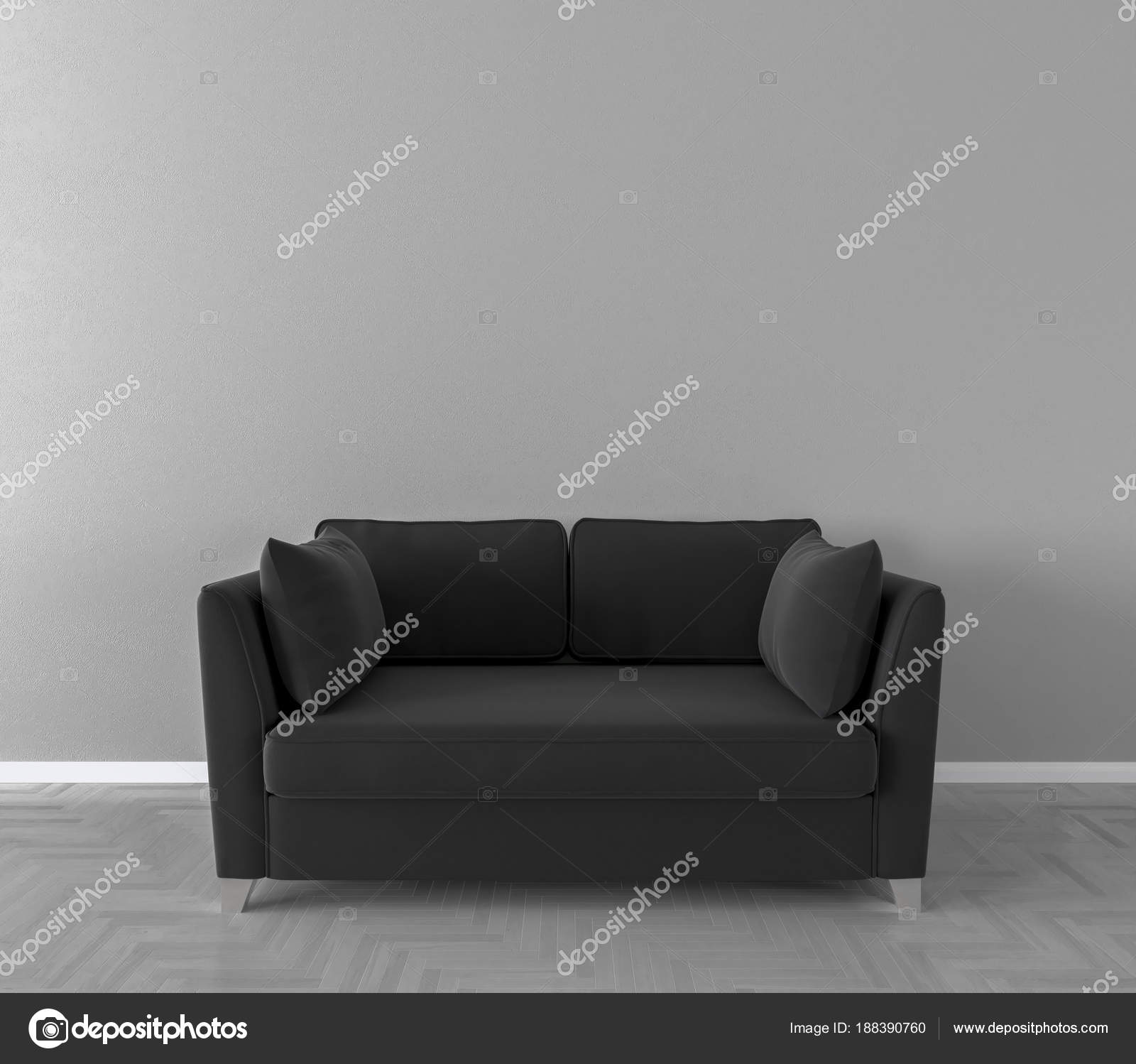 Groovy Solo Sofa Interior 3D Illustration Stock Photo C Pozitivo Ibusinesslaw Wood Chair Design Ideas Ibusinesslaworg