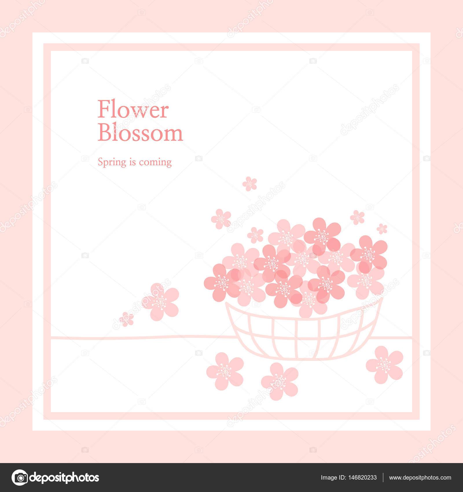春の花背景イラスト — ストックベクター © silverb #146820233