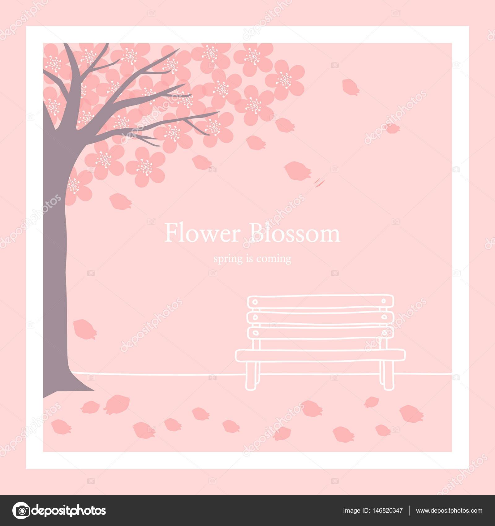 春の花背景イラスト — ストックベクター © silverb #146820347