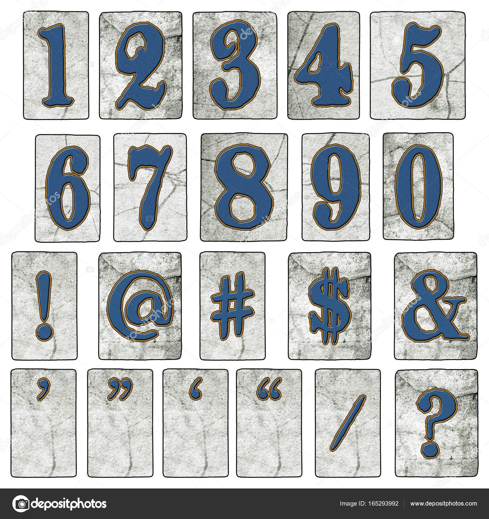 New Orleans Street Tiles Number Collection Letters Stock Photo