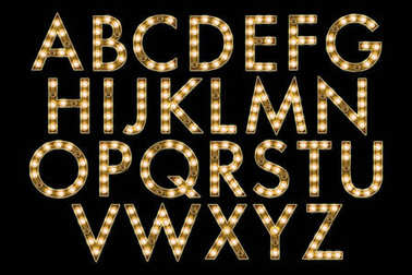 Broadway Marquee Lights Alphabet Collection Letters