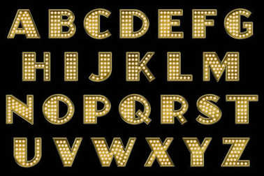 Vaudeville Marquee Alphabet Collection Letters