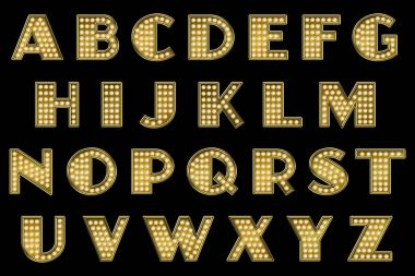 Vaudeville Marquee Alphabet Collection Letters
