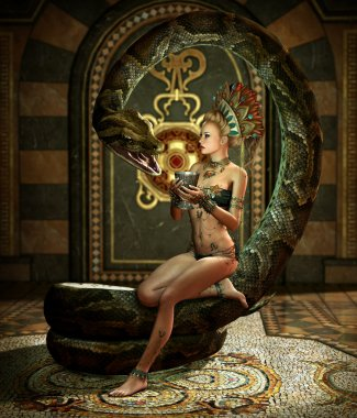 The Snake Enchantress 3d CG