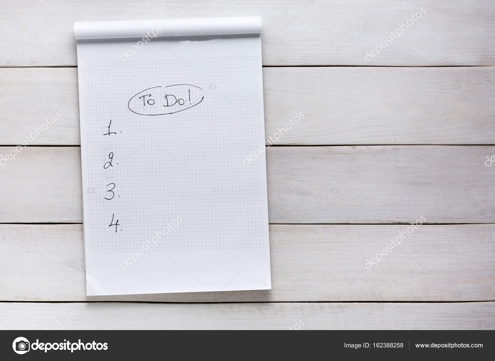 to do list on white wooden background top view memo planning