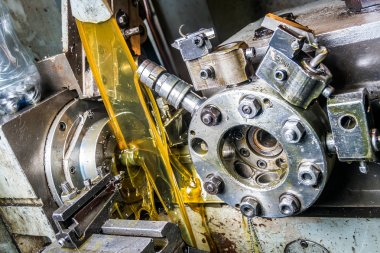 lathe work and engine oil