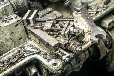 an old machine repairing  process