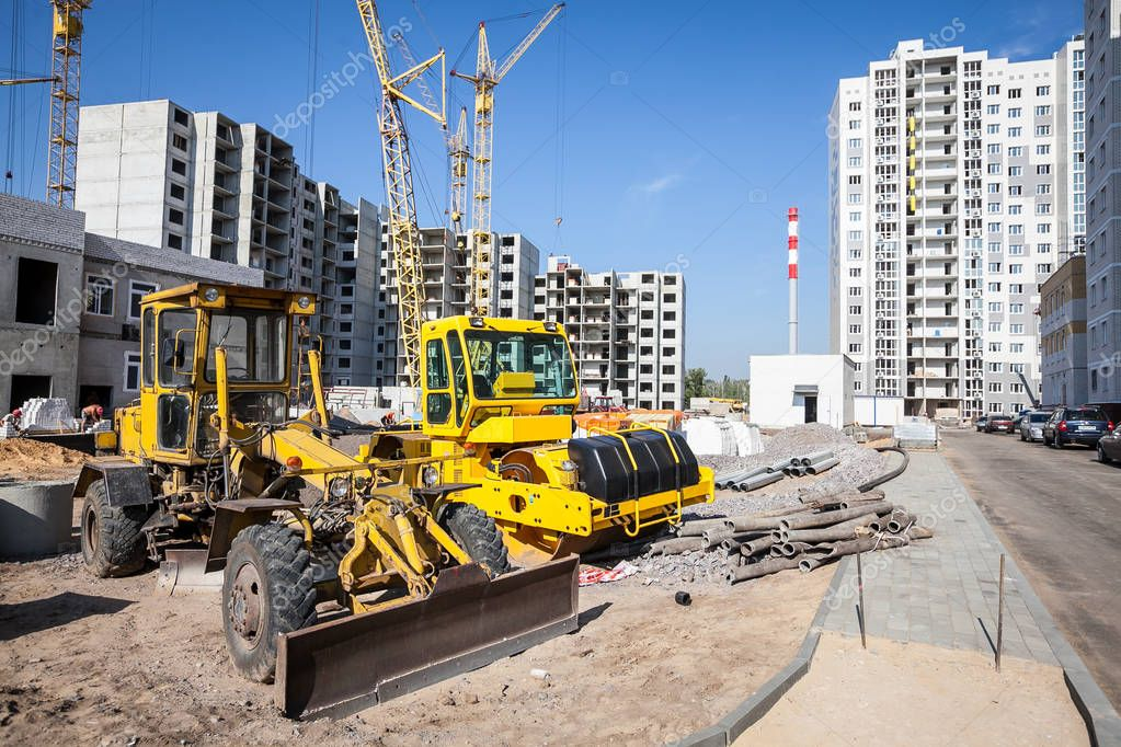 bulldozer working at the construction site