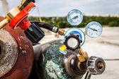 wedling plyn a tlak ventil tlakoměru