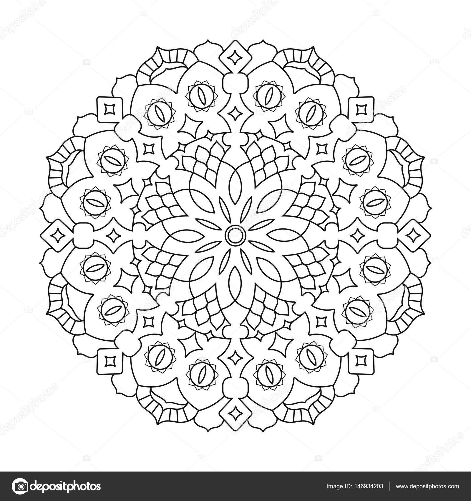 Dibujos Geometricos Arabes Para Colorear Mandalas De Flores