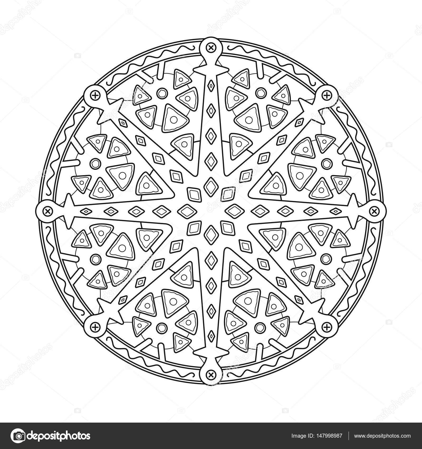 Mandalas de flores. Adorno indio geométrica redonda patrón ...