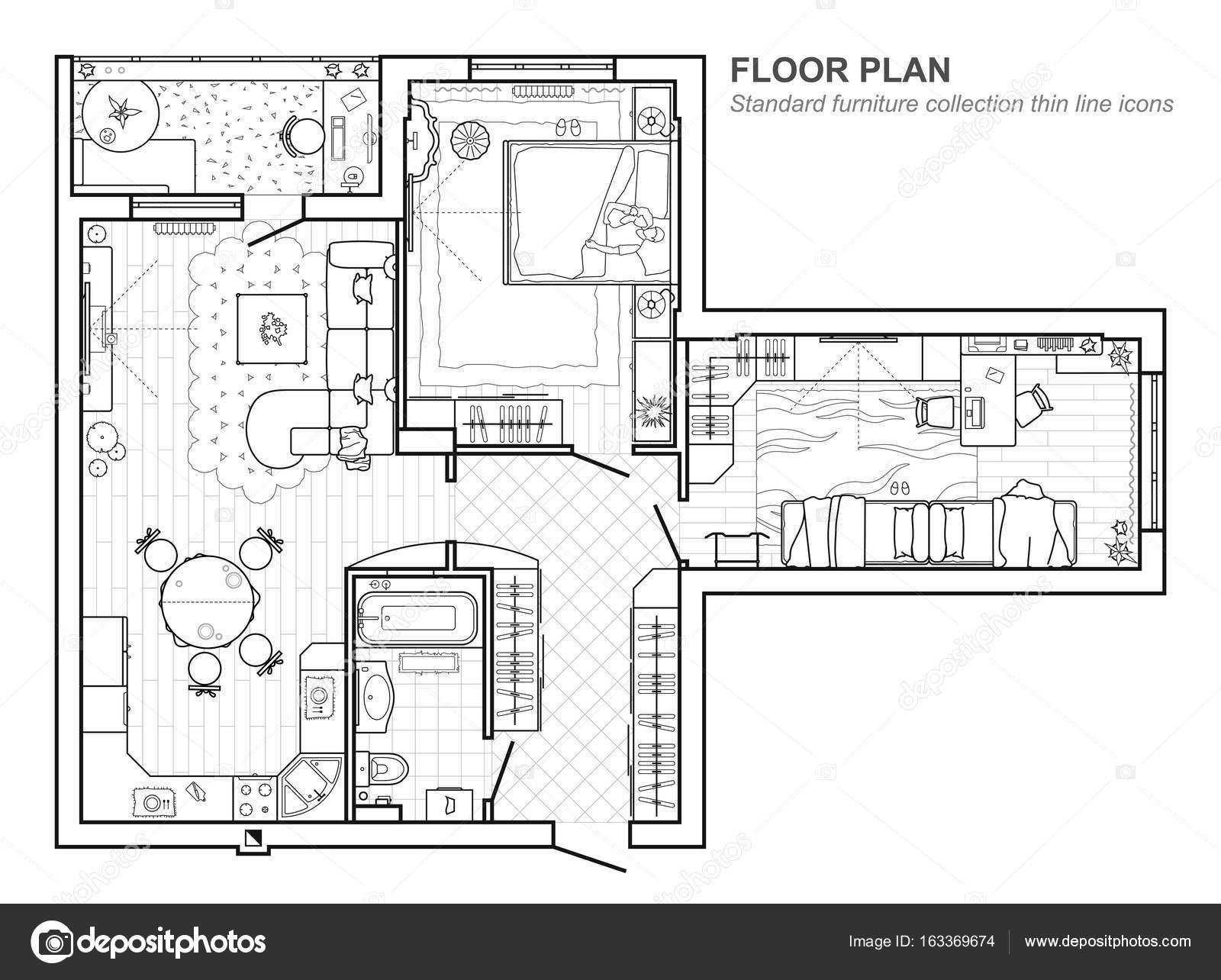 Plan appartement en ligne deco premium with plan - Livre de plan de maison ...