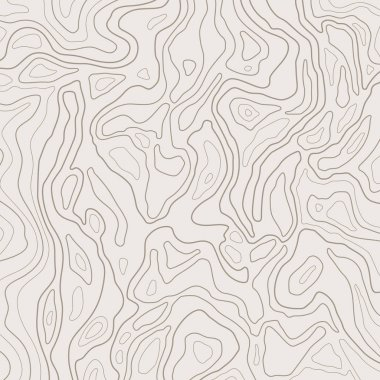 Topographic map lines, earth relief, contour background. Geographic grid, elevation map, vector abstract.