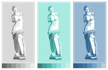 Venus de Milo statue. Aphrodite  - goddess of love. Vector drawing