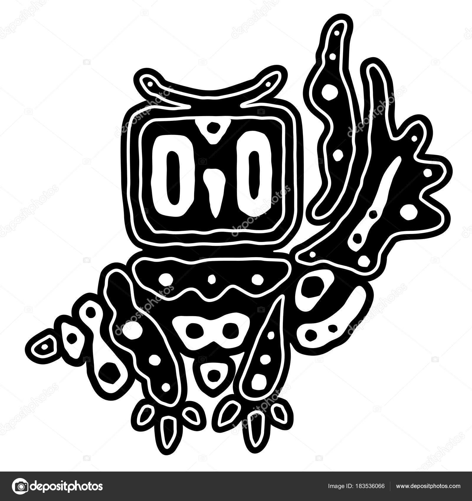 e8666052a3602 Vector Decorative Black White Owl Hand Drawing Zentangle Art Ethnic — Stock  Vector