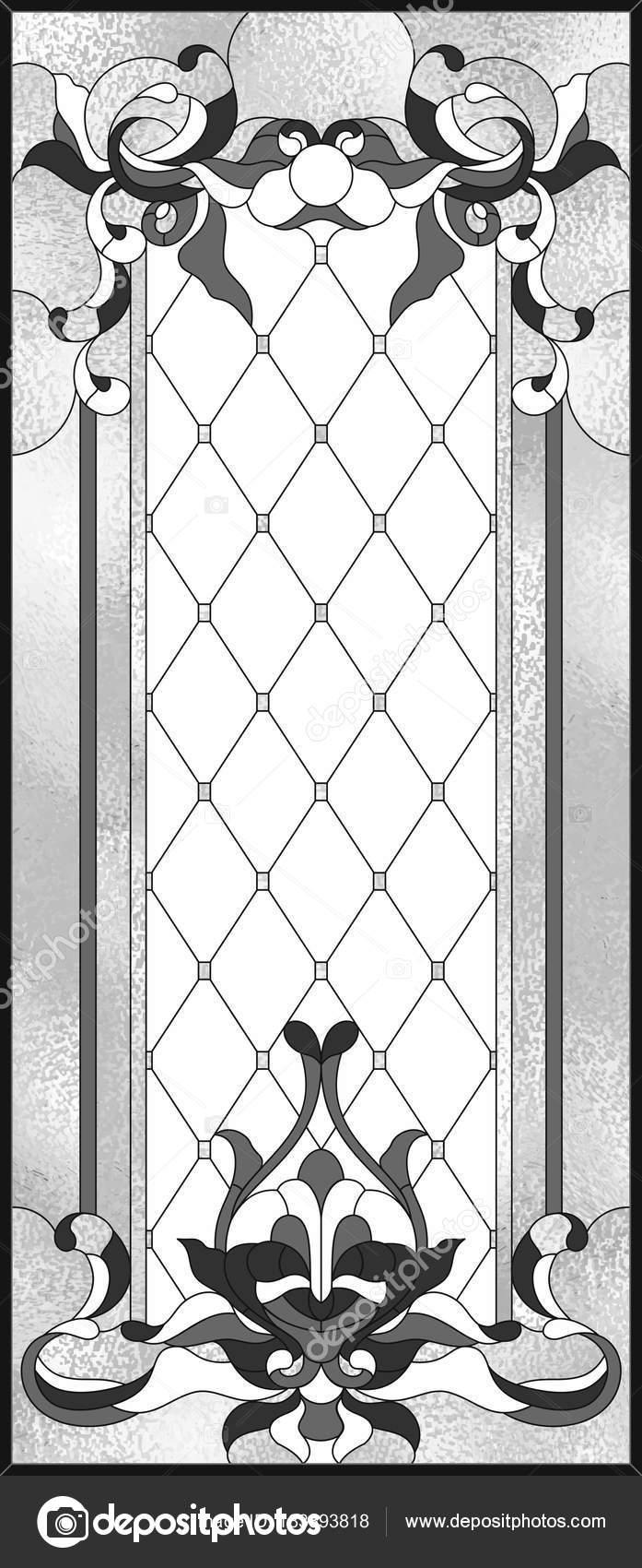 Panel Cristal Manchado Marco Rectangular Arreglo Floral Abstracta ...