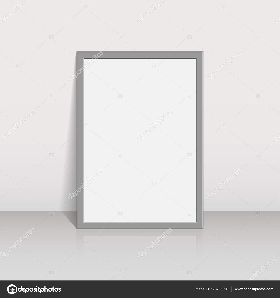 Bilderrahmen auf einer weißen Wand 3d Hintergrund-Design für Ihre ...